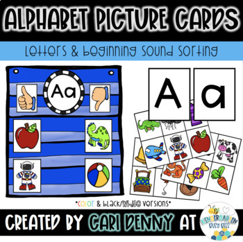 Letter & Beginning Sound Picture Cards