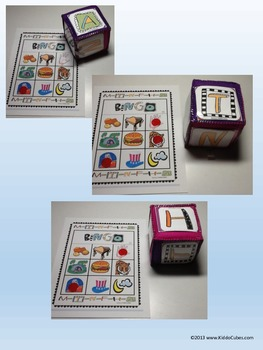 Bingo letters M,T,N,F,H and A (Learning Cube Inserts)
