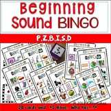 Beginning Sounds -BINGO- letters P, Z, B, I, S and B