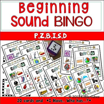 Bingo letters P, Z, B, I, S and B (Learning Cube Inserts)