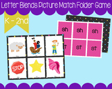 Letter Blend Picture Match Reading Game Digraph Kindergart