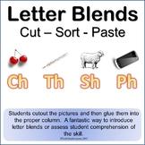 Letter Blends Cut Sort and Paste Reading (Ch, Th, Sh, Ph) LA Grades K-3