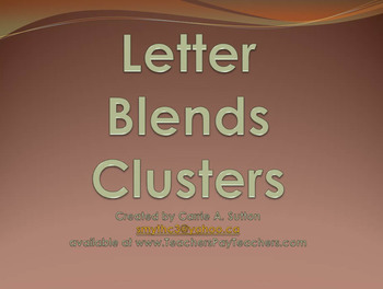 Letter Blends and Clusters Flash PowerPoint Slideshow SMARTBoard