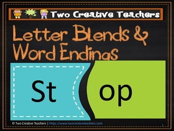 Letter Blends and Word Endings - Blue and Green