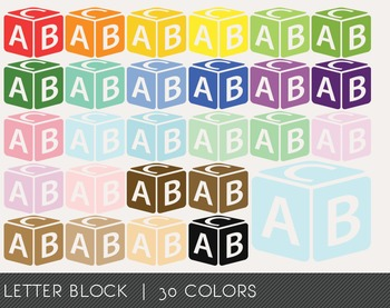 Letter Block Digital Clipart, Letter Block Graphics, Letter Block PNG