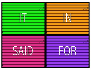 Letter Board Sight Word Practice - Literacy Center / Station