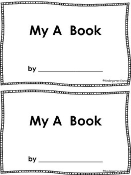 Letter Book A Emergent Reader -freebie