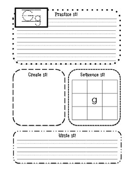 Writing Center (Handwriting Letters)
