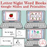 Letter / Sight Word Books Google Slides and Printables
