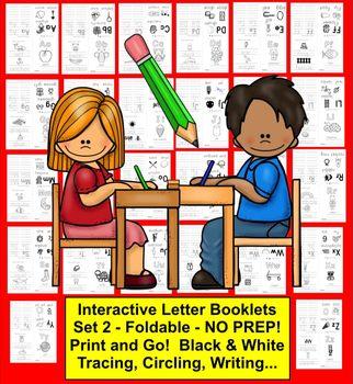 Alphabet Books BUNDLE:  52 Interactive Foldable Letter Books NO PREP!
