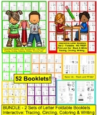 Alphabet Books BUNDLE:  52 Interactive Foldable Letter Books NO PREP!