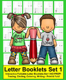 Alphabet Books: 26 Interactive Foldable Letter Booklets Set 1