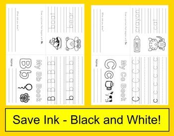 Alphabet Books: 26 Interactive Foldable Letter Booklets Set 1