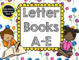 Alphabet Letter Books A-E