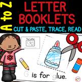 Letter Books A to Z | Cut, Paste, Trace, Read Alphabet Practice