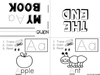 Letter Books ~ With Alphabet Recognition & Fine Motor Skill Practice