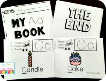 Letter Books with Alphabet Recognition and Fine Motor Skill Practice