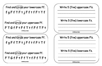 Letter Books for F, G, H