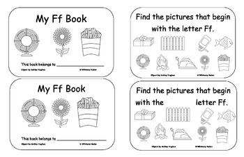 Letter Books for F, G, H