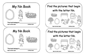 Letter Books for M, N, P