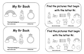 Letter Books for Q, R, S