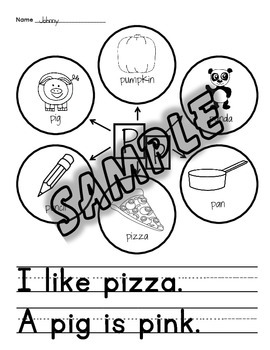 Letter Box Letter Bubble Activity, Beginning Sounds, Writing