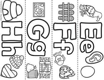 Letter Bracelets for Kindergarten and PreK and Preschool