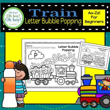 Letter Bubble Popping - Train Theme - S