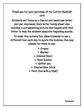 Letter Buddies Unit A-Z
