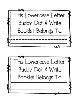 Letter Buddy Dot & Write Lowercase Booklets