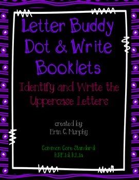 Letter Buddy Dot & Write Uppercase Booklets