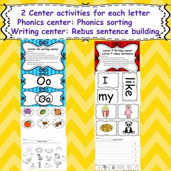 Letter Bundle A-Z (Emergent readers, word work worksheets and centers)