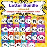 Letter Bundle A-Z (Emergent readers, word work worksheets