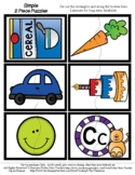 Letter C - 2 Piece Puzzles - #60CentFinds - No Frills 1 Page *o
