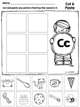 letter c alphabet printables and centers by simply. Black Bedroom Furniture Sets. Home Design Ideas
