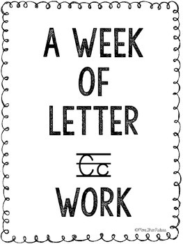 Letter C Activities and Printables