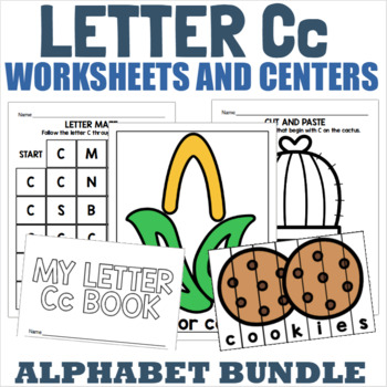 Letter C Activity and Center Packet