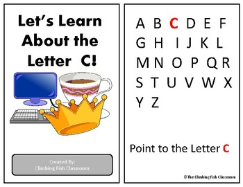 Letter 'C' Adapted Book