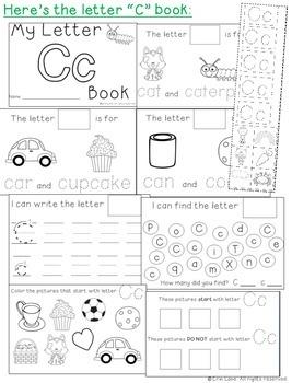 Letter C: Alphabet Activity Book
