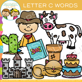 Letter C Clip Art {Alphabet Beginning Sounds Clip Art}