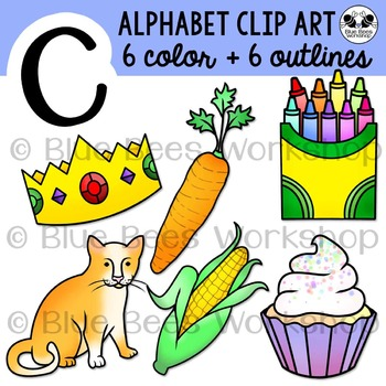 Letter C Clip Art Alphabet / Beginning Sound C