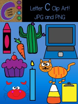 Letter C Beginning Sound Clip Art Alphabet