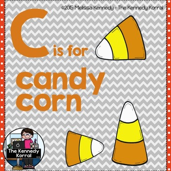 Letter C is for Candy Corn {Halloween}