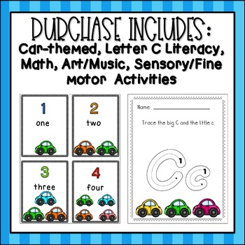 Letter C Unit Plan (Car Activity Packet)