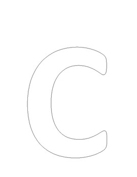Letter C (Caterpillar) art work