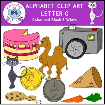 Letter C Clip Art {Beginning Sounds} Alphabet