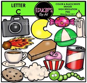 Letter C Clip Art Bundle {Educlips Clipart}
