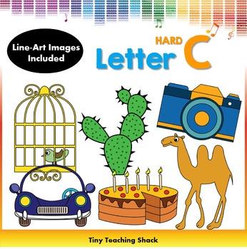Letter C Clip Art (Hard C)