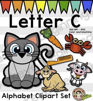 Alphabet Clip Art: Letter C Phonics Clipart Set - Clip Art