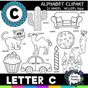 Letter C Clipart - 20 images! For Commercial and Personal Use!
